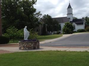 statue & church